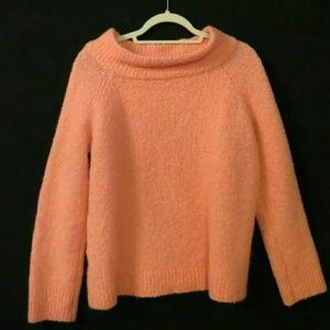 Moth coral pink boxy sweater Wool blend